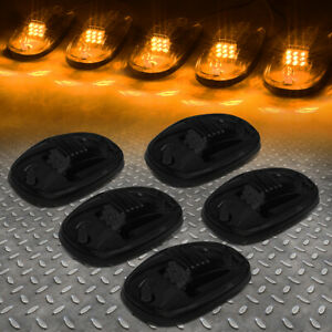 FOR 02-18 DODGE RAM TRUCK 5PCS SMOKED LENS LED CAB ROOF TOP MARKER RUNNING LIGHT