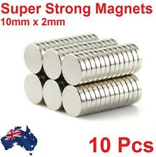 10 Pcs Super Strong Round Disc 10mm x 2mm N35 Magnets Rare Earth Neodymium