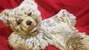 "Steiff Zipper Zotty Pajama Bag 1964 Teddy Bear  14"" Steiff Button Vintage 0330"