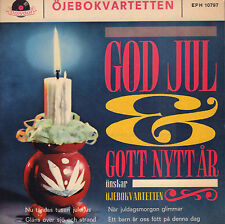 """ÖJEBOKVARTETTEN – God Jul & Gott Nytt År (VINYL EP 7"""" SWEDEN)"""