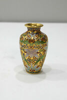 Chinese Raised Cloisonne Enamel Flower Vase