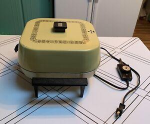 Vintage Sunbeam Aluminum Electric Frypan Fry Skillet, Harvest Gold EUC