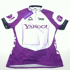 Voler Womens Purple White Short Sleeve Club Raglan Yahoo Cycling Jersey 2XL