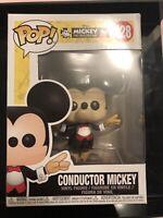 Funko POP! Disney - Mickey's 90th: Conductor Mickey Figure #428 (IN STOCK)
