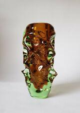 VASE Glas Czech 60er 70er Skrdlovice Bohemia Jan Beranek Glass