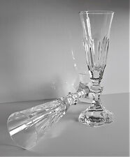 Wonderful Baccarat Harcourt Crystal Champagne Flute Glass, Set of 2, New