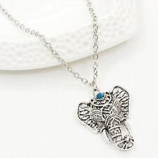 Women New Fashion Vintage Silver Elephant pendant chain choker charm Necklace