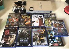 PlayStation 2 PS2 silver argent + 5 jeux + 1 carte mémoire