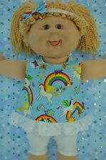 """Play n Wear Dolls Clothes To Fit 16"""" Cabbage Patch PATTERN TOP~LEGGINGS~HEADBAND"""