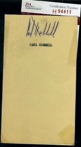Carl Hubbell Signed Jsa Certed 1956 Gpc Autograph