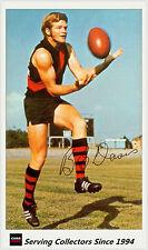 1971 Mobil VFL Footy Photos Card No18 Barry Davis (Essendon) -EXCELLENT, RARE!