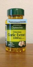 Odorless Garlic Extract 1000mg 100 Softgels Antioxidant Circulation