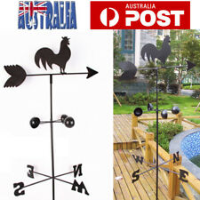 150cm Vintage Rooster Weather Vane Wind Speed Spinner Direction Garden Ornament