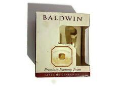 Baldwin Premium Gold Polished Brass Dummy Trim Liftetime Guarantee