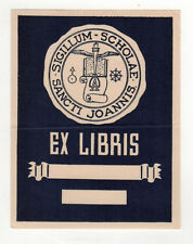 VINTAGE ST JOHN'S PREP Danvers Massachusetts EX LIBRIS Decal HIGH SCHOOL Saint
