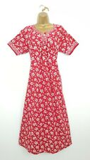 16 VINTAGE 1980'S KAFTAN DRESS RED & WHITE PATTERNED WITH BOW BACK SEEOTHERITEMS
