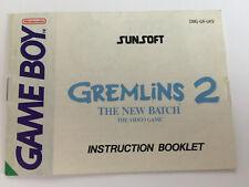 Gremlins 2 Nintendo Gameboy Original Game Instruction Manual Booklet