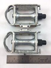 Vintage Sakae (SR) SP-152 Silver Bike Pedals Made in Japan