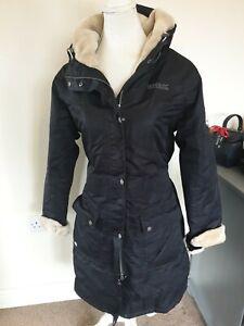 Regatta Black Waterproof Long Coat Jacket Ladies Uk Size 16