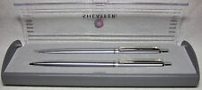 Sheaffer Sentinel Brushed Chrome Ball Pen/Pencil Set New In Box Product