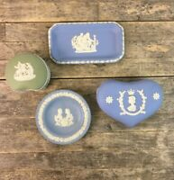Wedgwood Blue & Green Jasperware To Include 1953 Coronation Trinket Box.