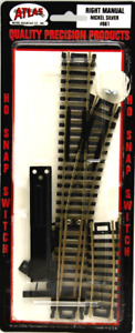 Atlas #861 Right-Hand Manual Snap Switch Track - HO Scale - Code 100 Rails - New