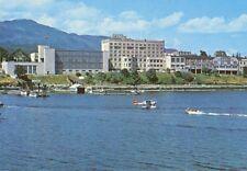 Nanaimo BC Harbour Seaplane Hotel Malaspina Skyline Unused Vintage Postcard D17