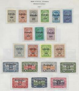 20 Austria Semi-Postal Stamps from Quality Old Antique Album 1921