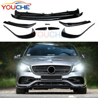 8Pcs Front Bumper Canards Lip for Mercedes Benz A Class W176 A45 AMG A250 A220