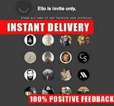 Ello.co Beta Invite - Immediate within the hour delivery!  BE THE FIRST ONES!