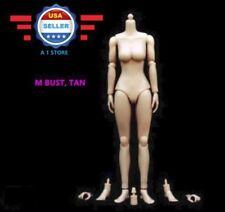 1/6 Scale Female Nude Figure Body Doll Medium Bust Tan Skin Tone