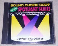 JEWISH FAVORITES SOUND CHOICE KARAOKE CDGplus-A - CD - KARAOKE *RARE