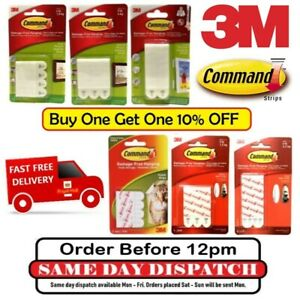 3M Comand Strips Self Adhesive Damage Free Wall Hanging Pictures Frames Posters™
