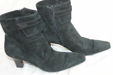 SIZE 6 AA BLACK SUEDE ANKLE BOOTS SHOES