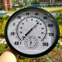 25CM Round Thermometer Indoor Outdoor Temperature Humidity Meter Measurement