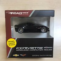 CORVETTE Wireless Car Mouse BLACK  IDEAL GIFT - OFFICIAL LICENSED