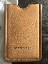SEE BY CHLOE  iPhone 5/5s Apricot Leather Phone Holder Cover Case Or Card Holder
