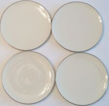 Lenox Fine China Olympia Platinum and White Dinner Plates 10 1//2  inches X-303P