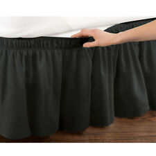 Elastic Bed Ruffle Skirt Easy Fit Wrap Around Soft Twin Full Queen King Size