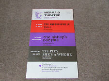 ANDERSONVILLE Trial BISHOPS Bonfire & Pity She's a Whore MERMAID Theatre Poster