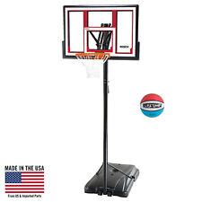 "Portable Basketball System Hoop Adjustable 48"" Outdoor Backyard Game Play Court"