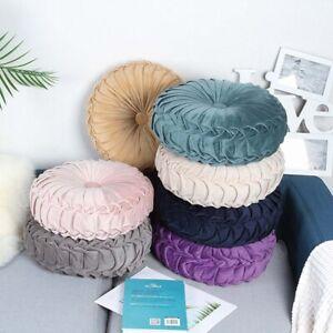 Velvet Pleated Round Floor Cushion Pillow Pouf Soft Comfortable Throw Sofa US