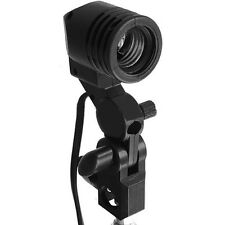 Photo Studio E27 Single Light Lamp Socket Mount  Swivel Holder Umbrella Adapter
