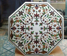 4'  marble dining coffee dinner lunch purpose inlay malachite table top furse
