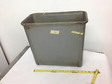 Vintage Steelcase GRAY Square Metal Industrial Factory Trash Waste Can. lot#11