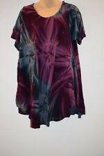 Tie Dye Dress loose fitting Hippie Sundress Comfy Hippy Gypsy beach Long top