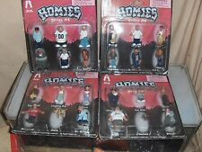Homies Complete set Series # 4 Homies for a total 24 figures 4 Blister Cards New