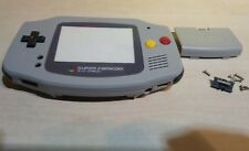 Carcasa para game boy advance alta calidad new super nes, Famicom gris grey