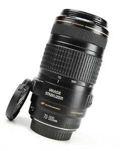 Canon EF 70-300mm Image Stabilizer IS USM F4-5.6 Zoom Lens - Front & Rear Cap
