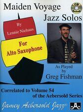 Lennie Niehaus - Vol. 54 Maiden Voyage Alto Sax Solos [New CD]